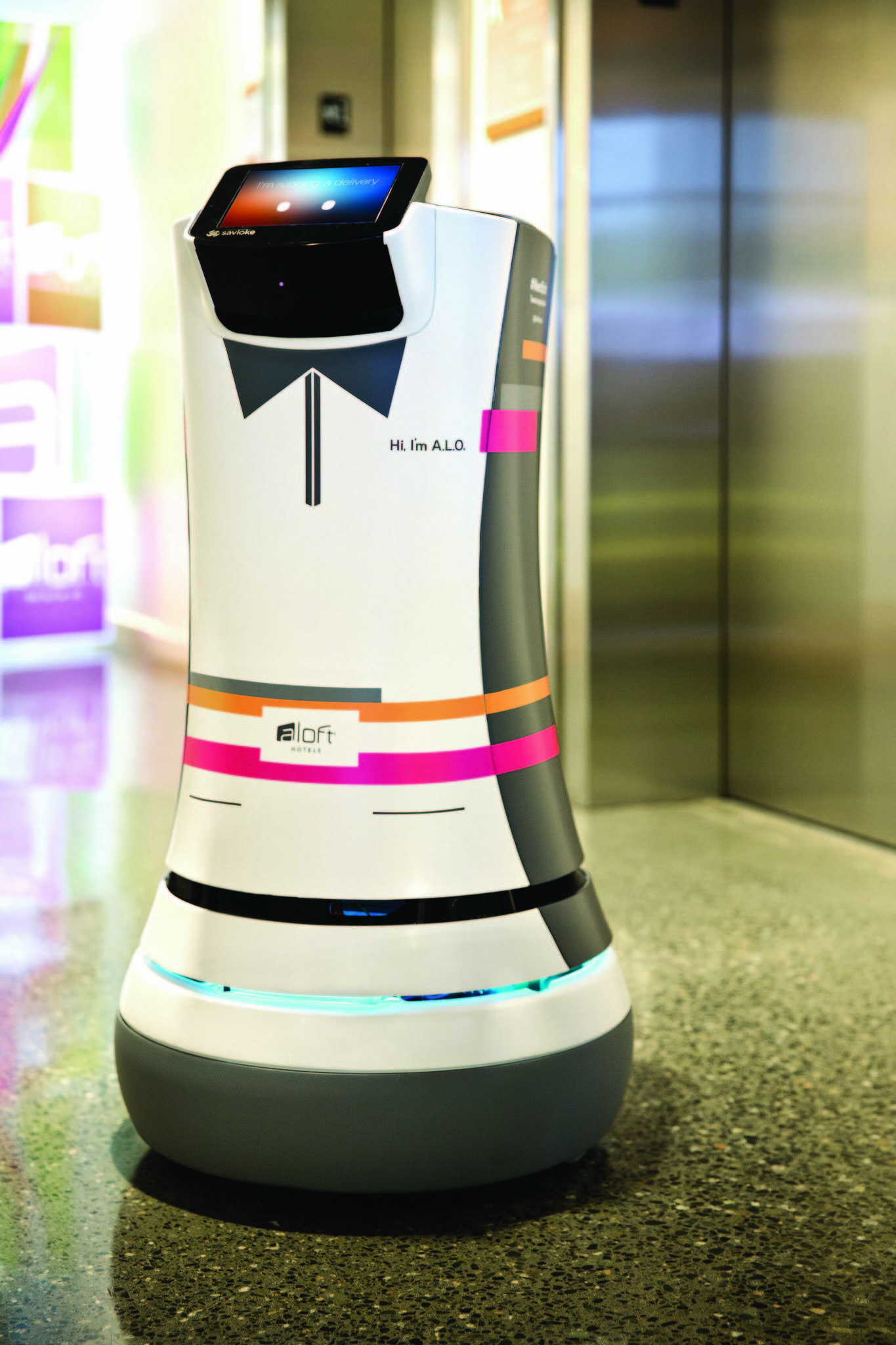 A.L.O. is Aloft Hotels' robotic butler, or Botlr.