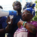 Baltimore's march in support of Michael Brown, who was gunned down in Ferguson, Mo.