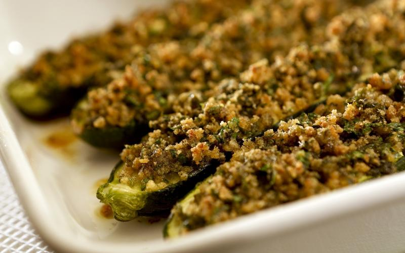 Recipe: Baked zucchini with mint and garlic stuffing - California ...