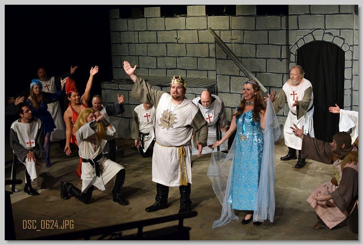 "The silly musical ""Spamalot!"" is onstage at Sanford's Princess Theater."