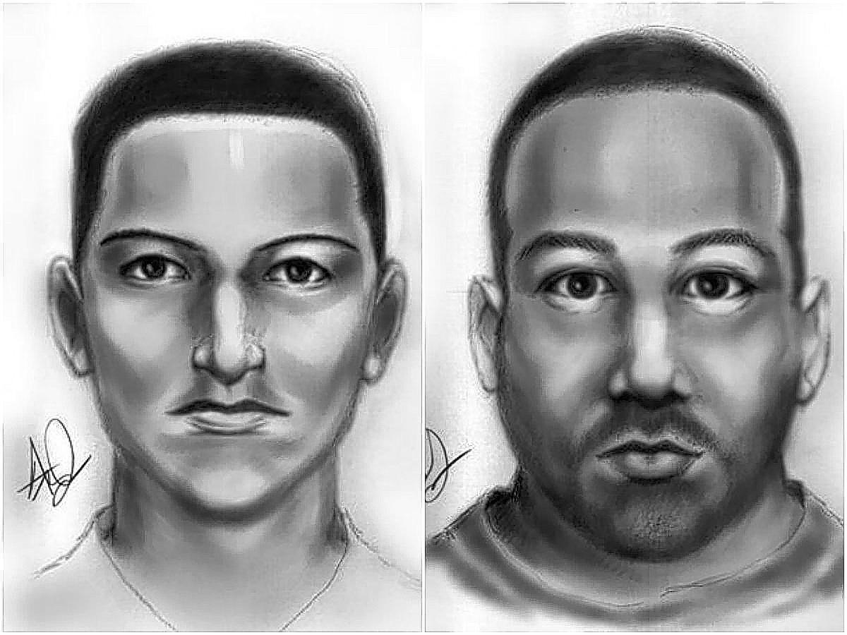The Orange County Sheriff's Office on Friday released sketches of two of the three suspects in a double homicide on Bancroft Boulevard.
