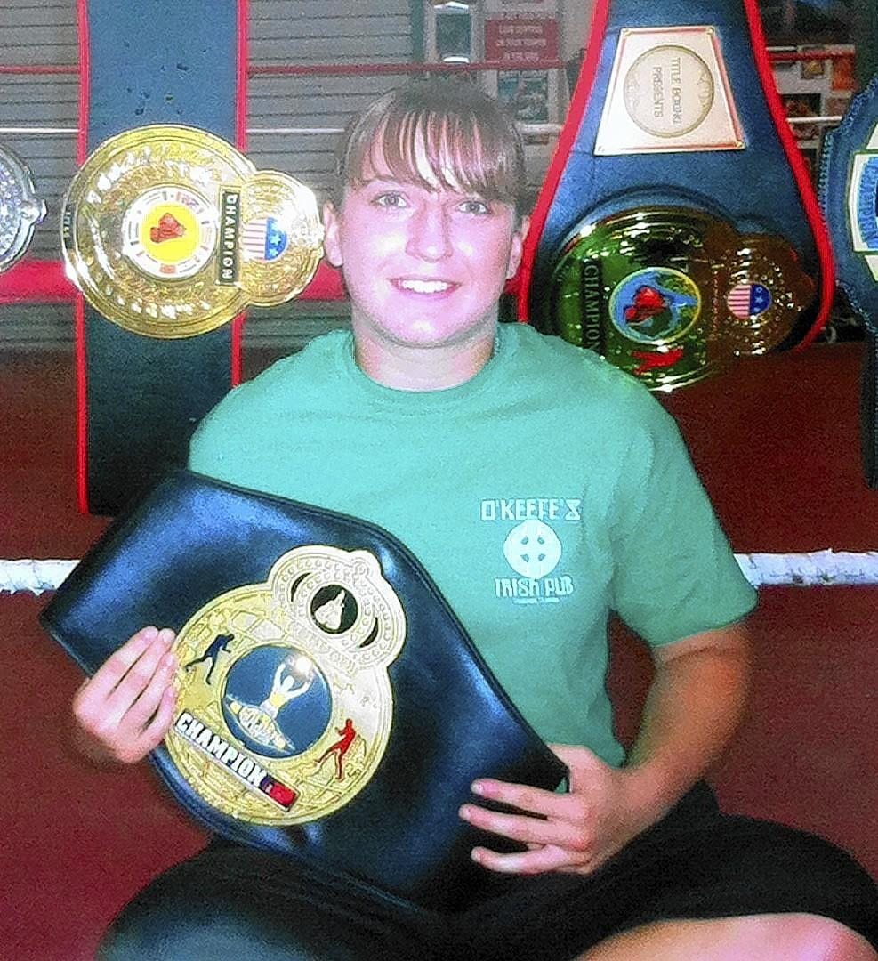 Meghan Karcher, 20, recently won a Golden Gloves boxing championship.