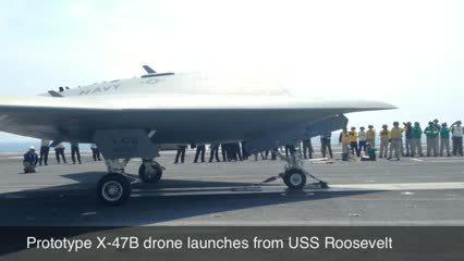 Video: Prototype X-47B drone launches from USS Roosevelt