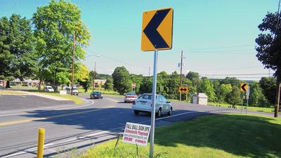 Detour for improvements at Routes 873 and 329