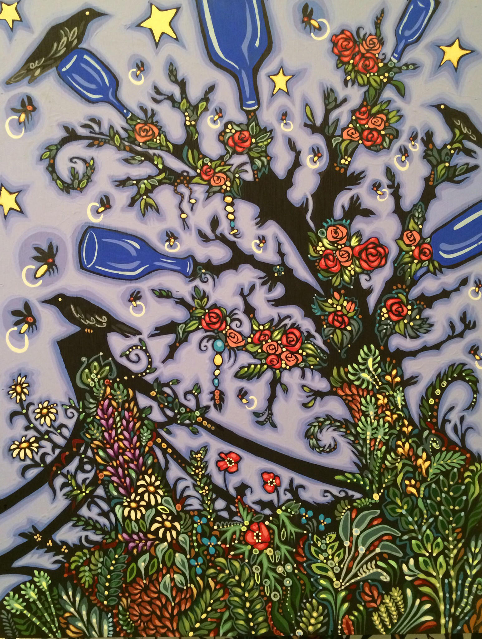 """Rose Bottle Tree"" is by Bethanne Hill."