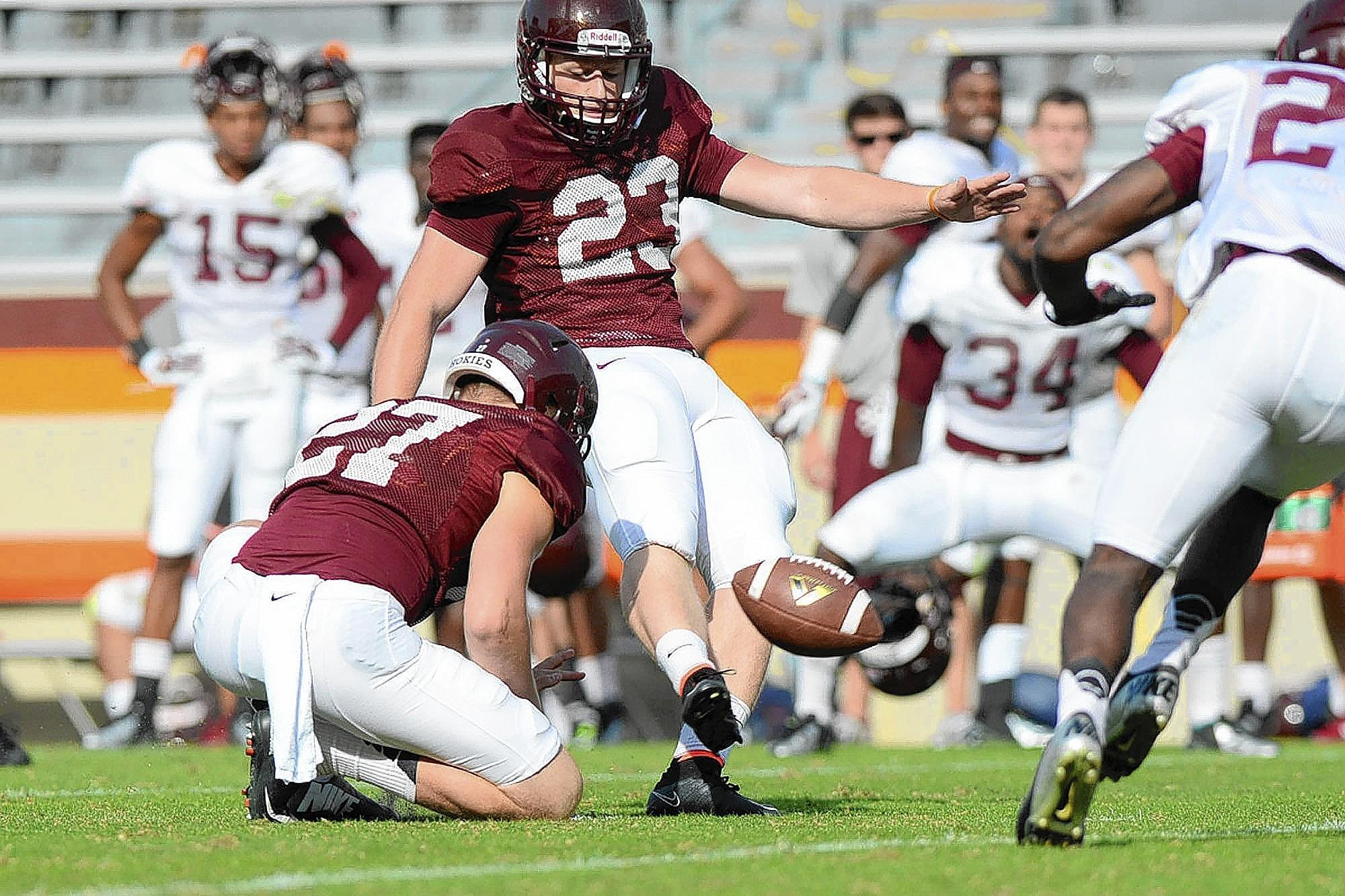 Virginia Tech kicker Joey Slye (2014)