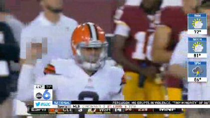 WATCH: Johnny Manziel's obscene gesture [Video]