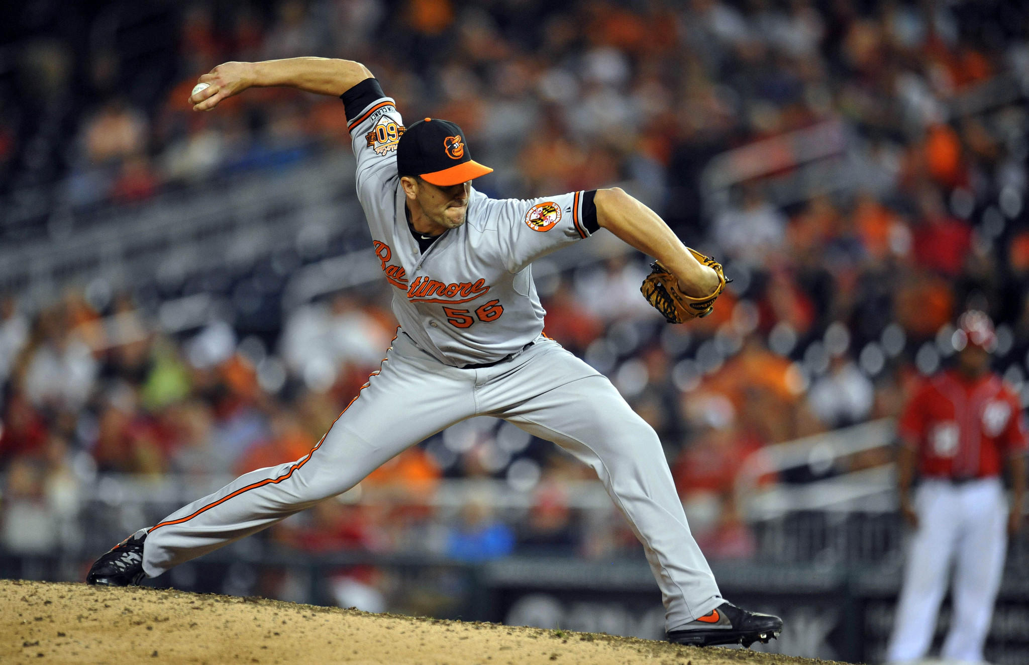 Orioles pitcher Darren O'Day had a 0.98 ERA through Monday.
