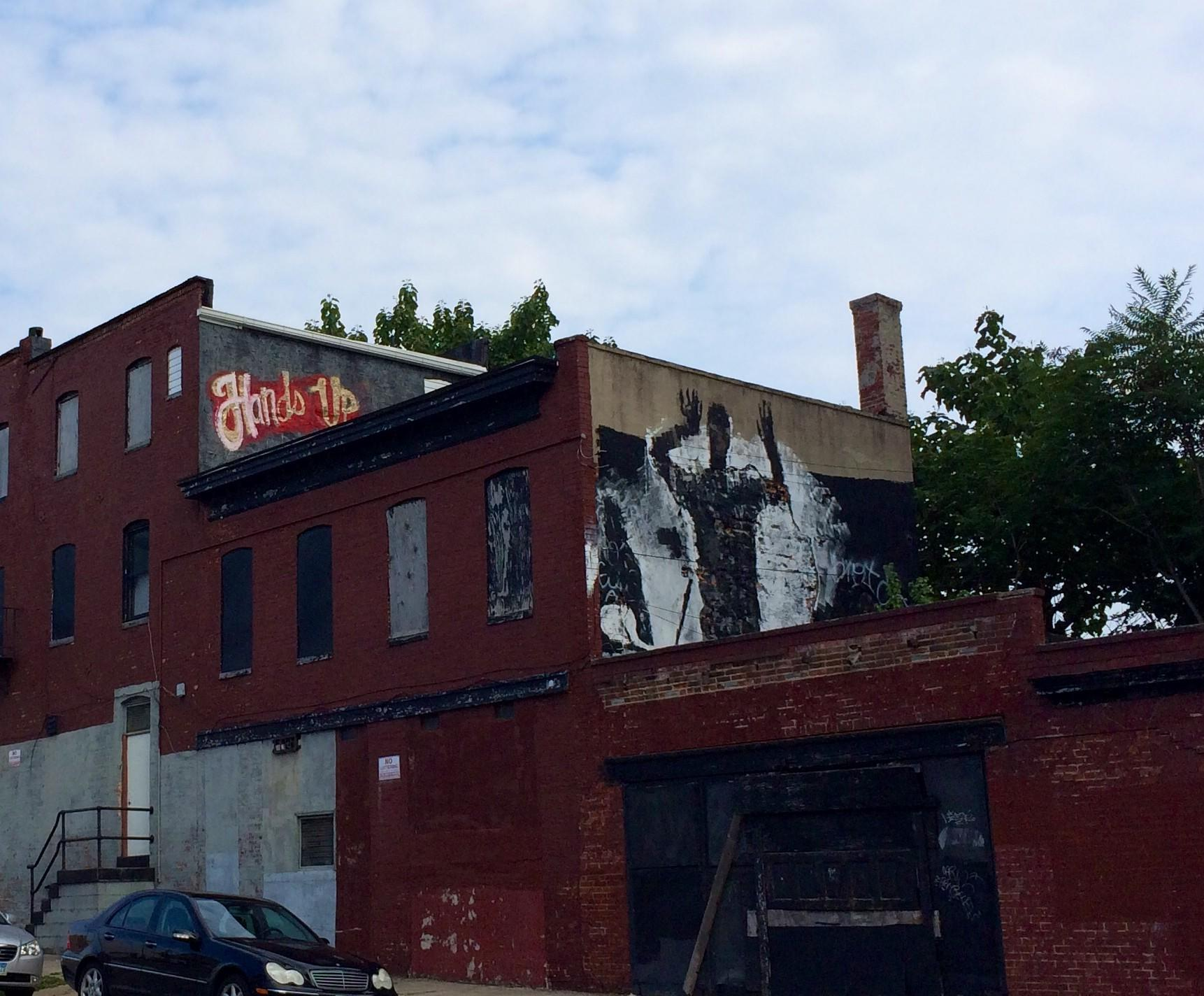 """""""Hands up"""" graffiti spotted in Baltimore"""