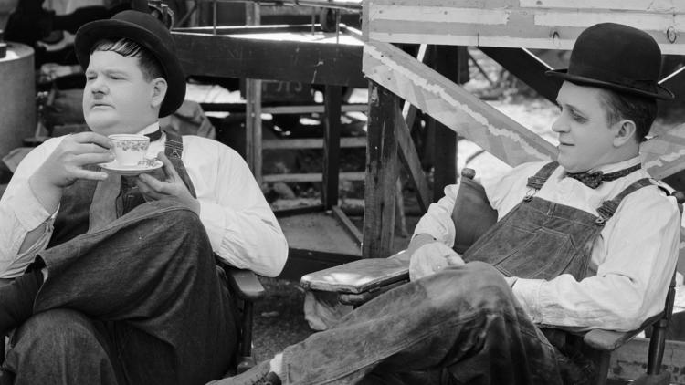 Behind-the-scenes Classic Hollywood | Stan Laurel and Oliver Hardy