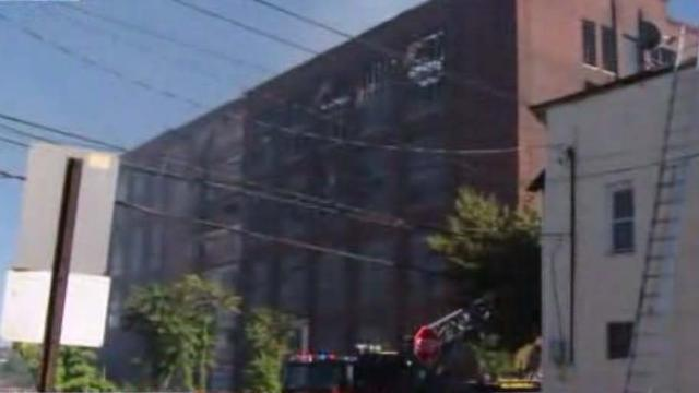 Fire At Old Remmington Factory In Bridgeport