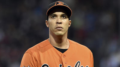 Looking at Orioles right-hander Ubaldo Jimenez going to the bullpen