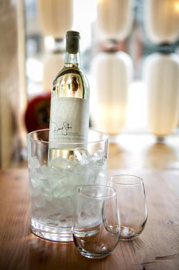 Tsu Kiji provides ice buckets for diners bringing wine to dinner.