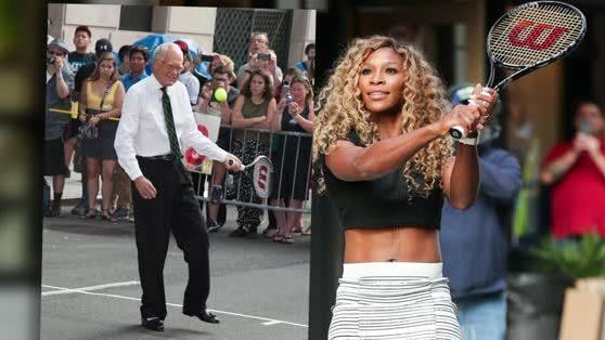 Serena Williams teaches David Letterman new tricks [Video]