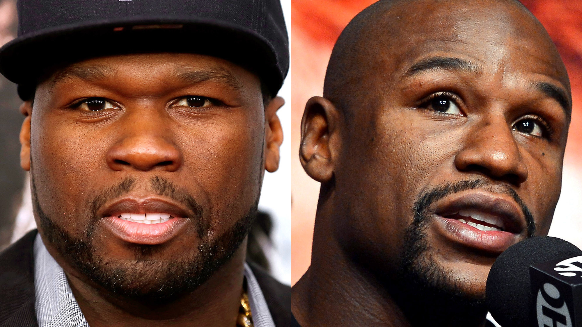 Image result for 50 cent vs floyd mayweather cat in the hat