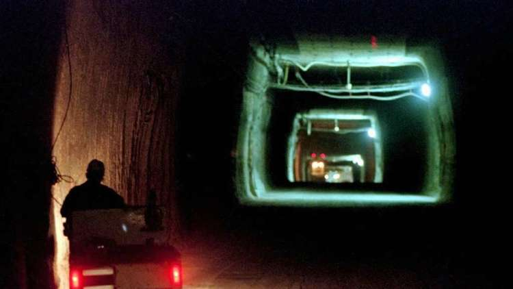 Salt tunnel at Waste Isolation Pilot Plant