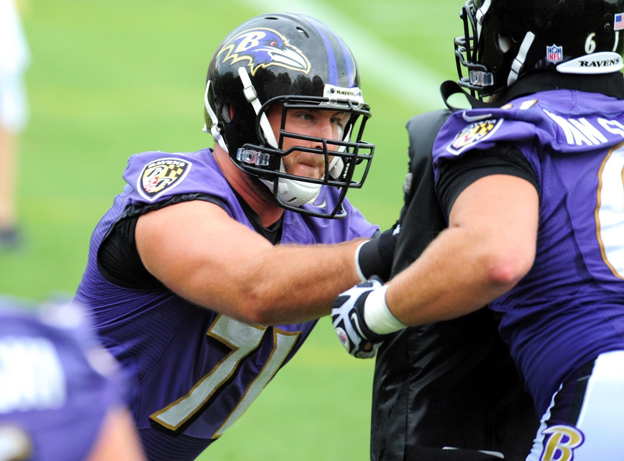 promise leads to football career for Ravens lineman Rick