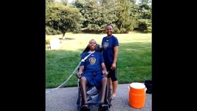 O.J. Brigance, Chanda Brigance take on ALS Ice Bucket challenge