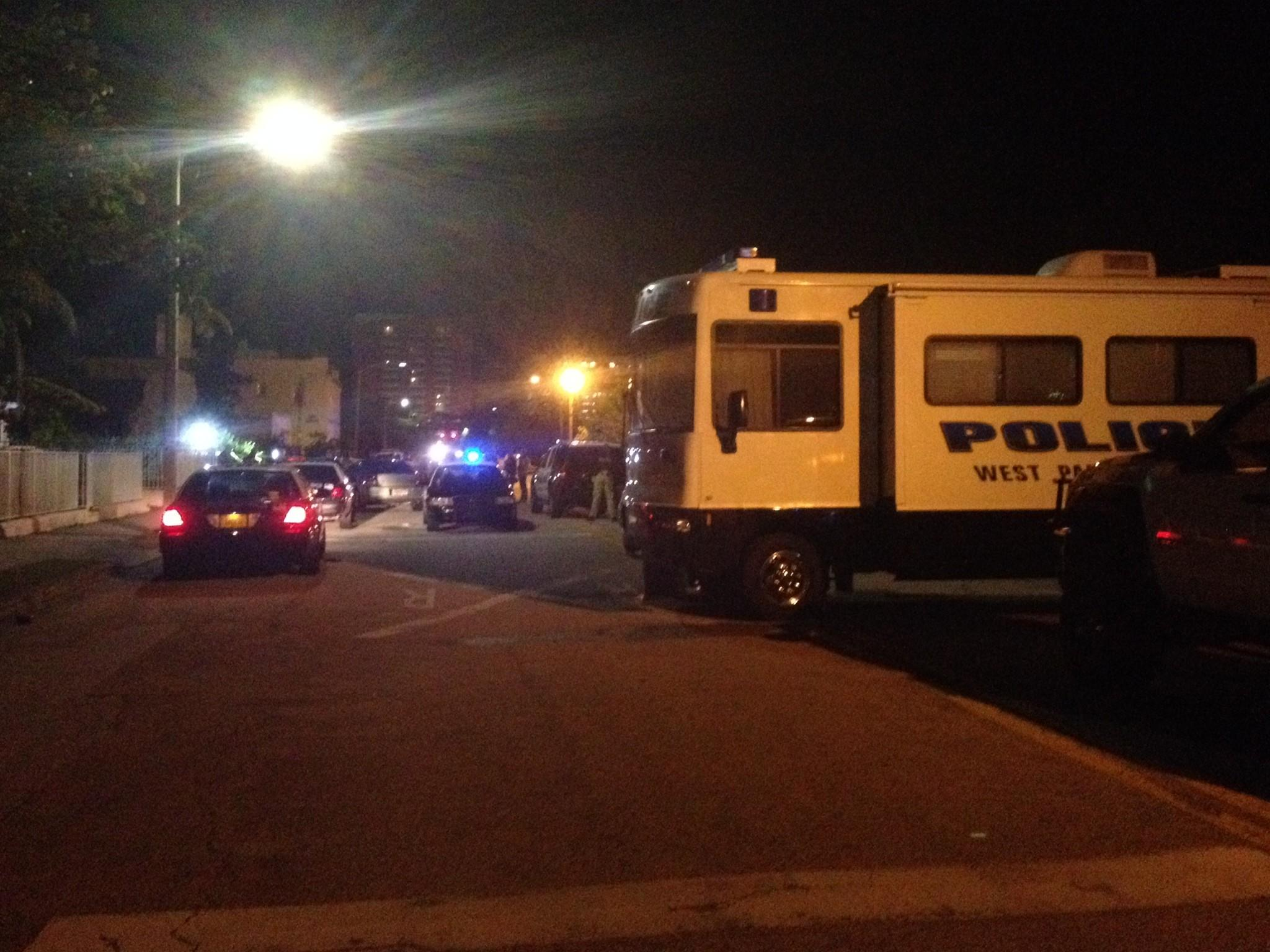 A police shooting in West Palm Beach happened along Henrietta Avenue and 15th street Saturday night.