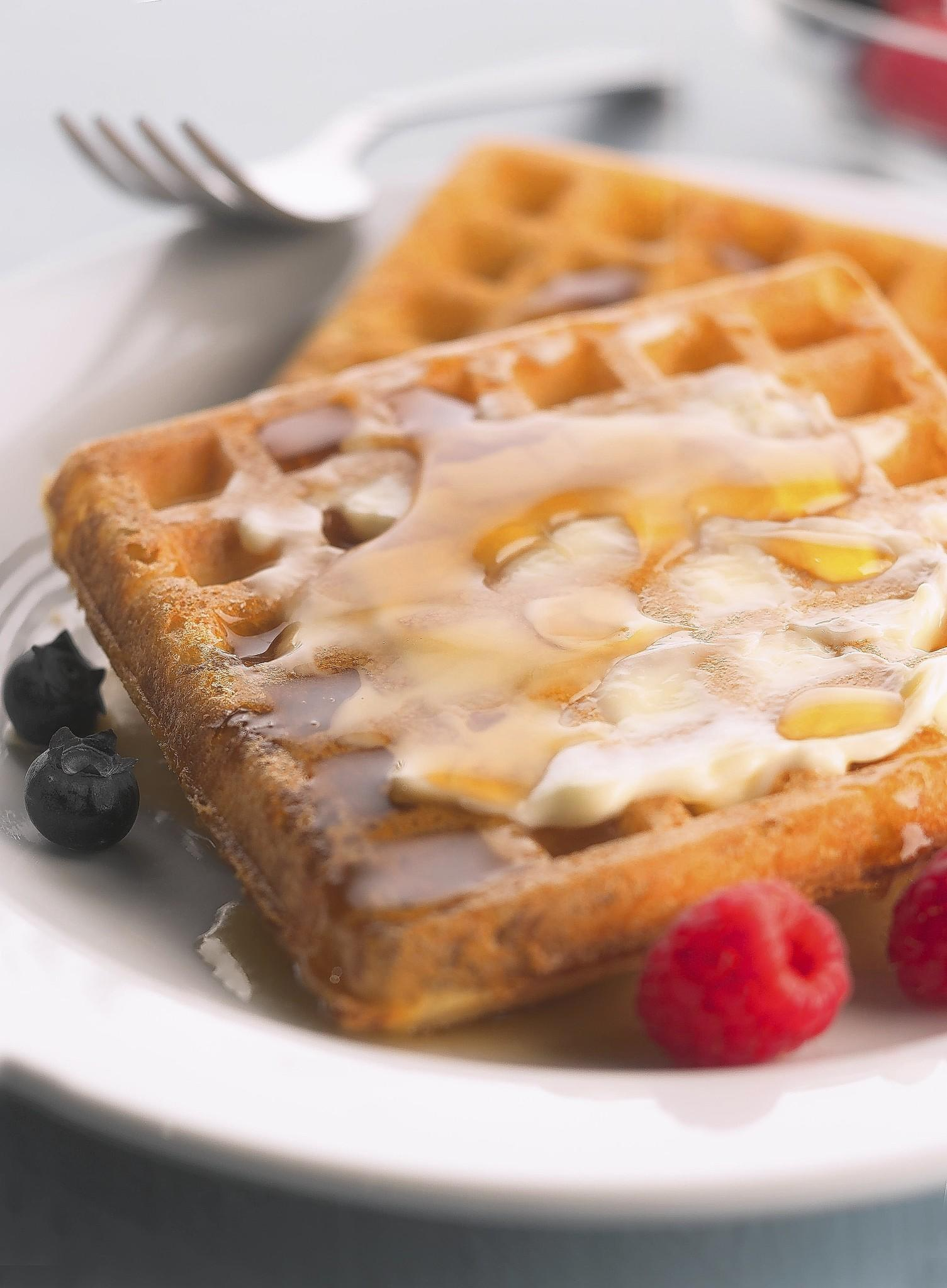 Waffles are great for breakfast, lunch or dinner.