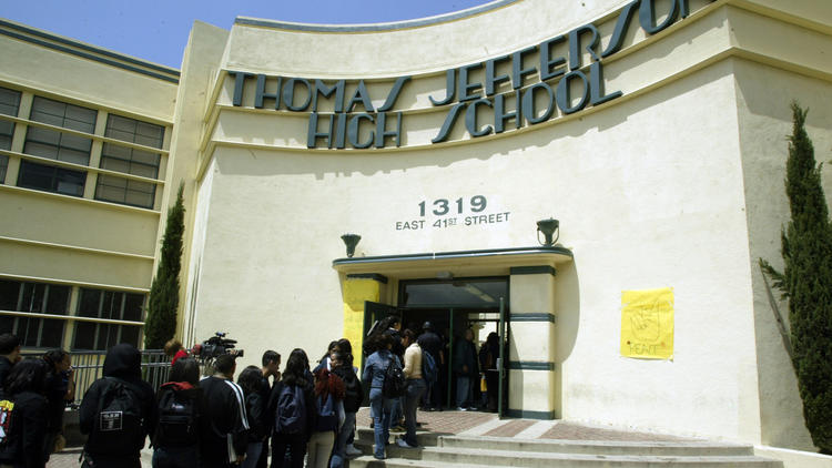Jefferson High School in South Los Angeles