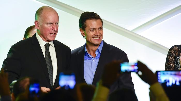 Jerry Brown, Enrique Pena Nieto