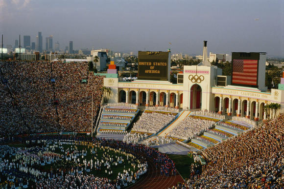 Part of the Opening Ceremony of the 1984 Olympics in Los Angeles.
