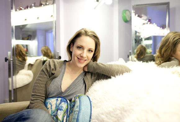 "Jessie Mueller backstage in her dressing room at the St. James Theater in New York, where she is co-starring with Harry Connick Jr. in ""On A Clear Day You Can See Forever."""