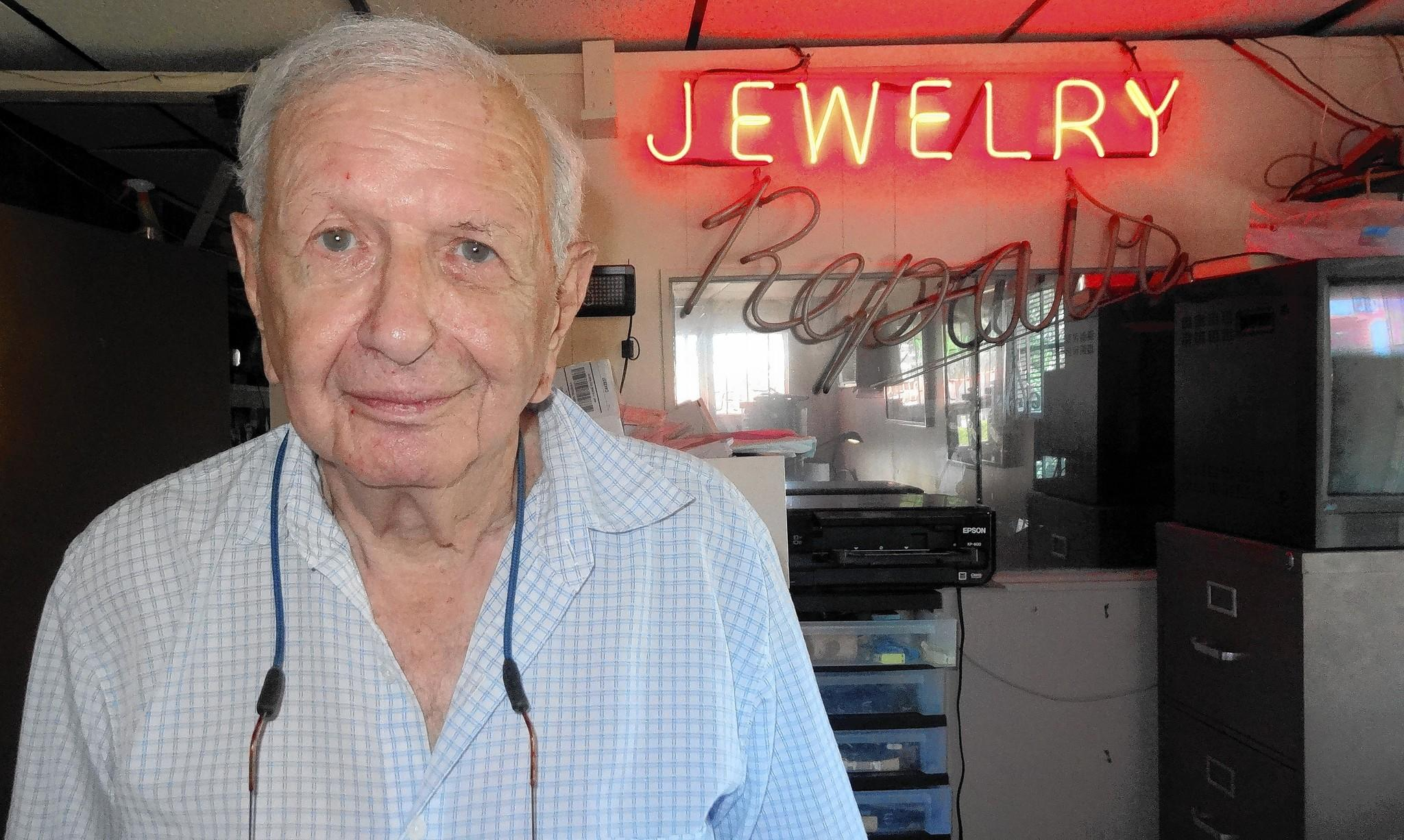 A man tried to rob Arthur Lewis, 89, owner of the Jewelry Exchange on Saturday but Lewis shot the robber instead.
