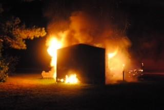 A mobile home on Dispatch Road caught on fire Wednesday morning.