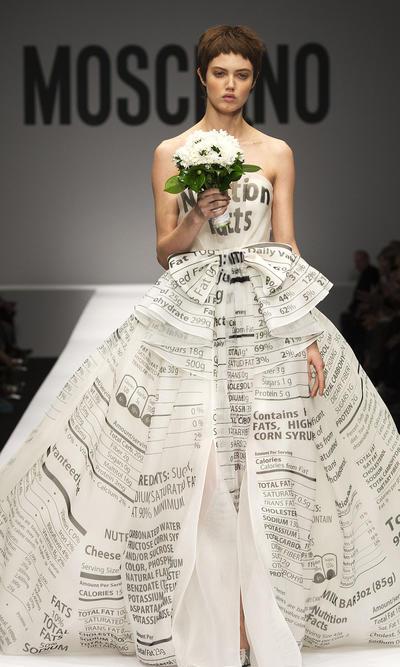 Moschino organza bridal gown