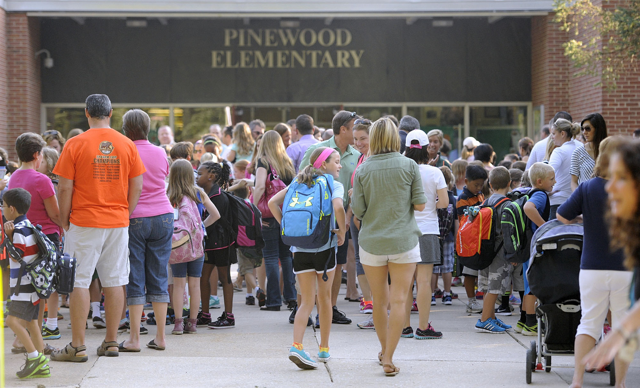 Pinewood Elementary School ~ First day of school at pinewood elementary baltimore sun