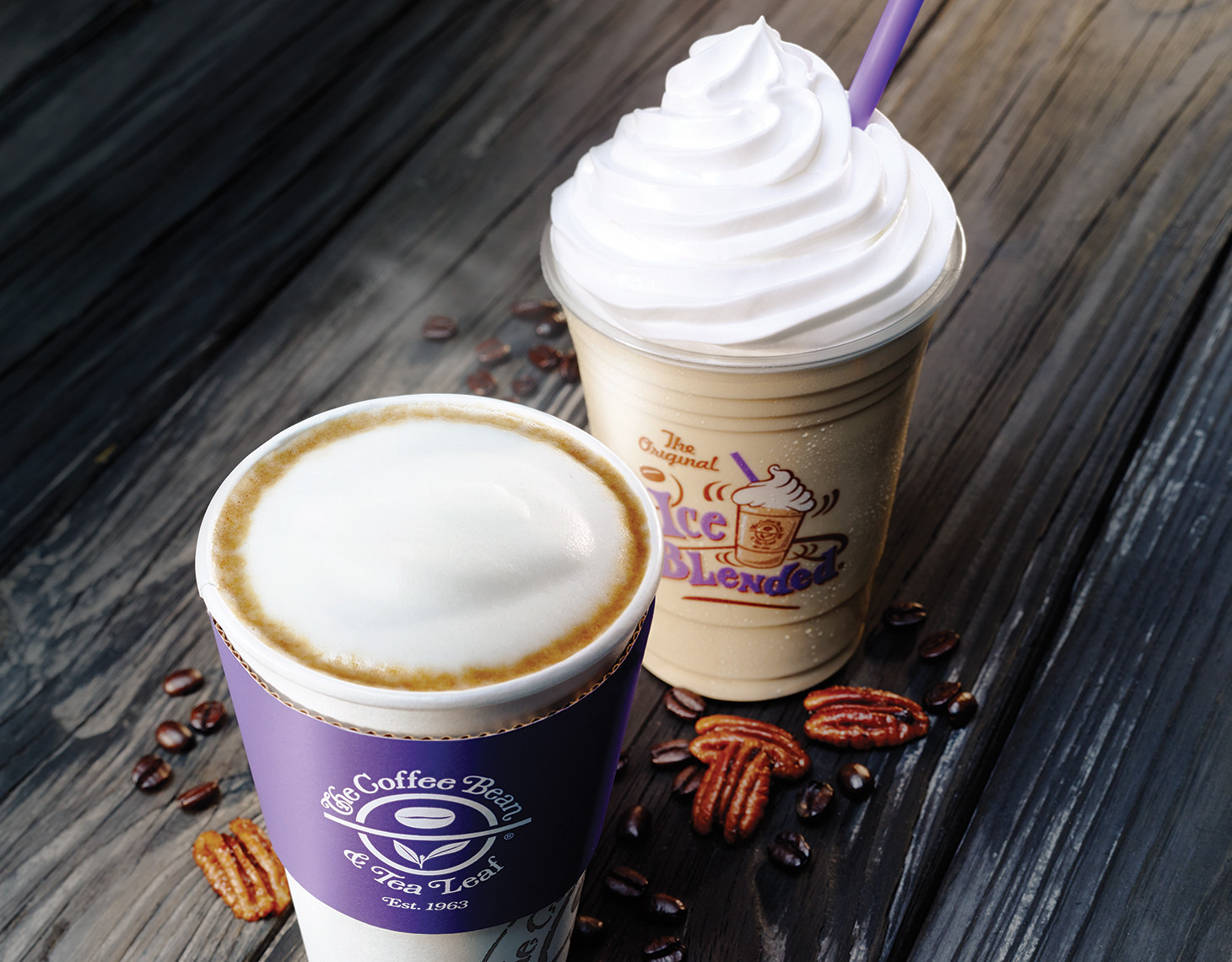 coffee bean u0026 tea leaf u0027s new butter pecan latte up against