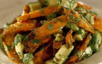 Huckleberry's roasted carrots with avocado