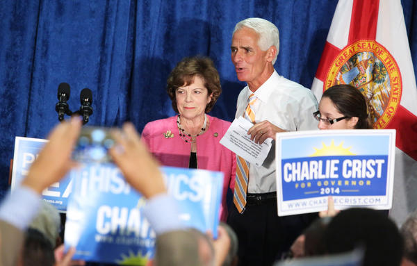 Gubernatorial candidate Charlie Crist, and Senator Nan Rich during a Grassroots event with supporters at Urban League of Broward County in Ft.Lauderdale.