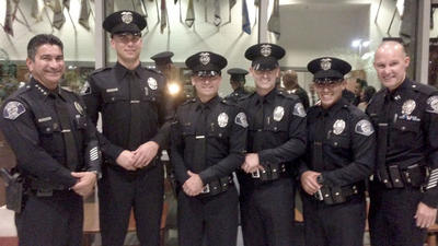 Four recruits take oath to join Glendale's police force