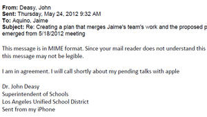 Related: Emails from John Deasy, others regarding LAUSD iPads