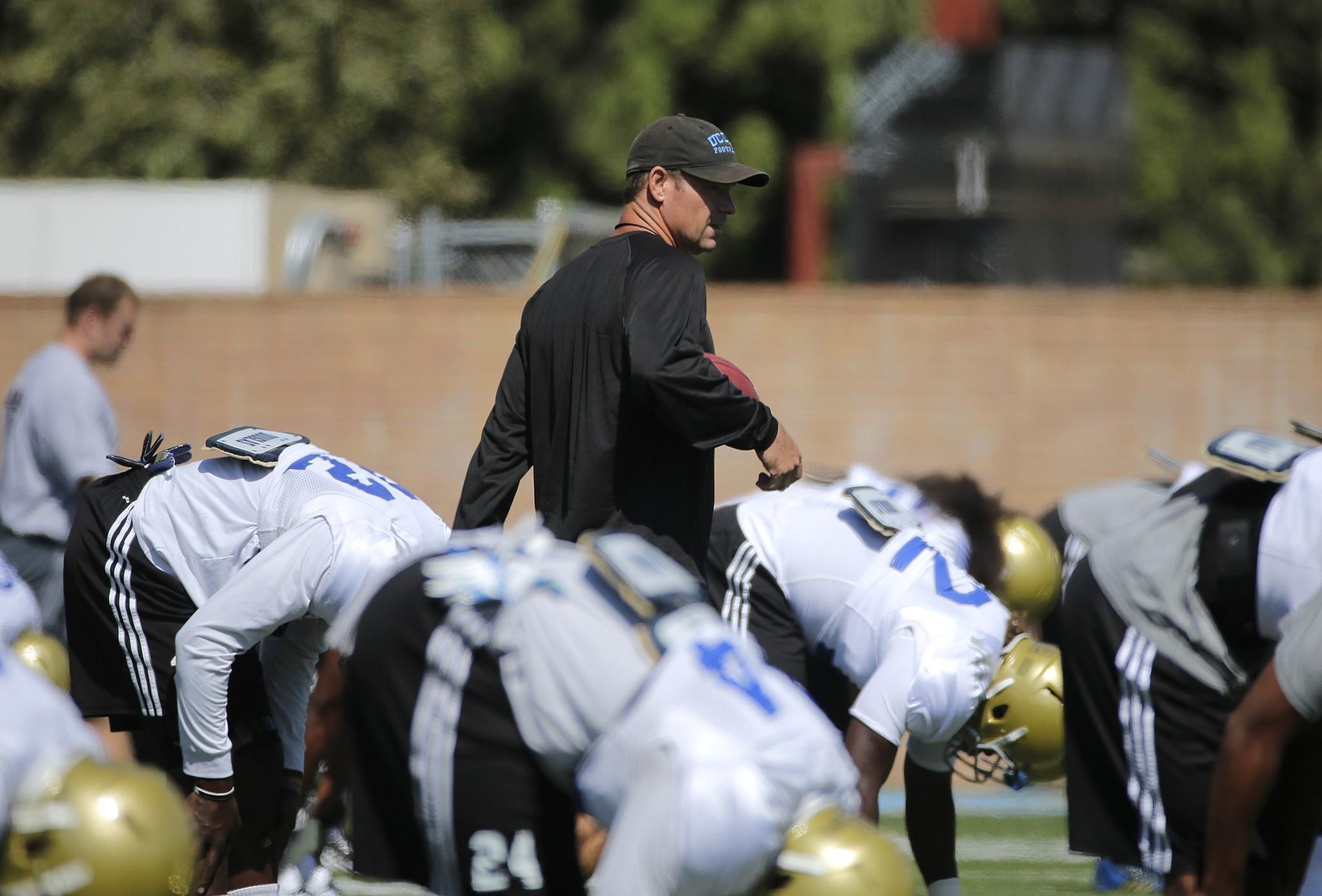 Jim Mora isn't afraid to push UCLA's football team toward greatness