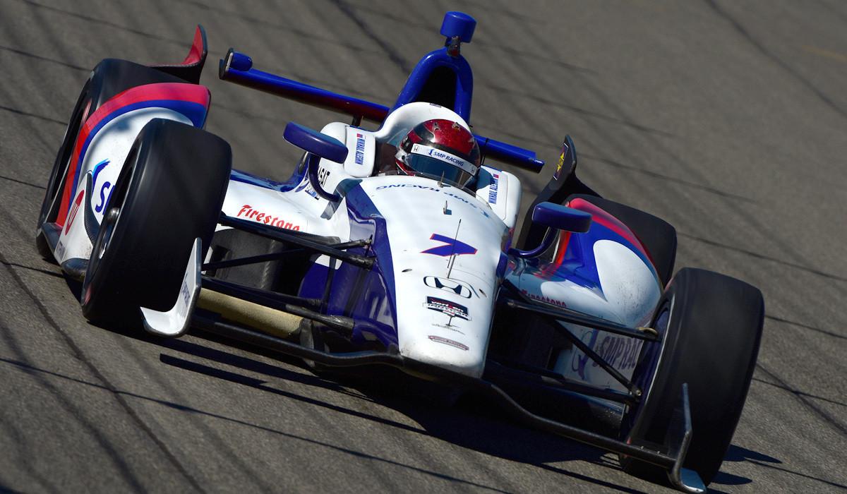 IndyCar driver Mikhail Aleshin hurt in multi-car crash in Fontana