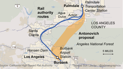 Proposal for rail corridor through Angeles National Forest draws fire