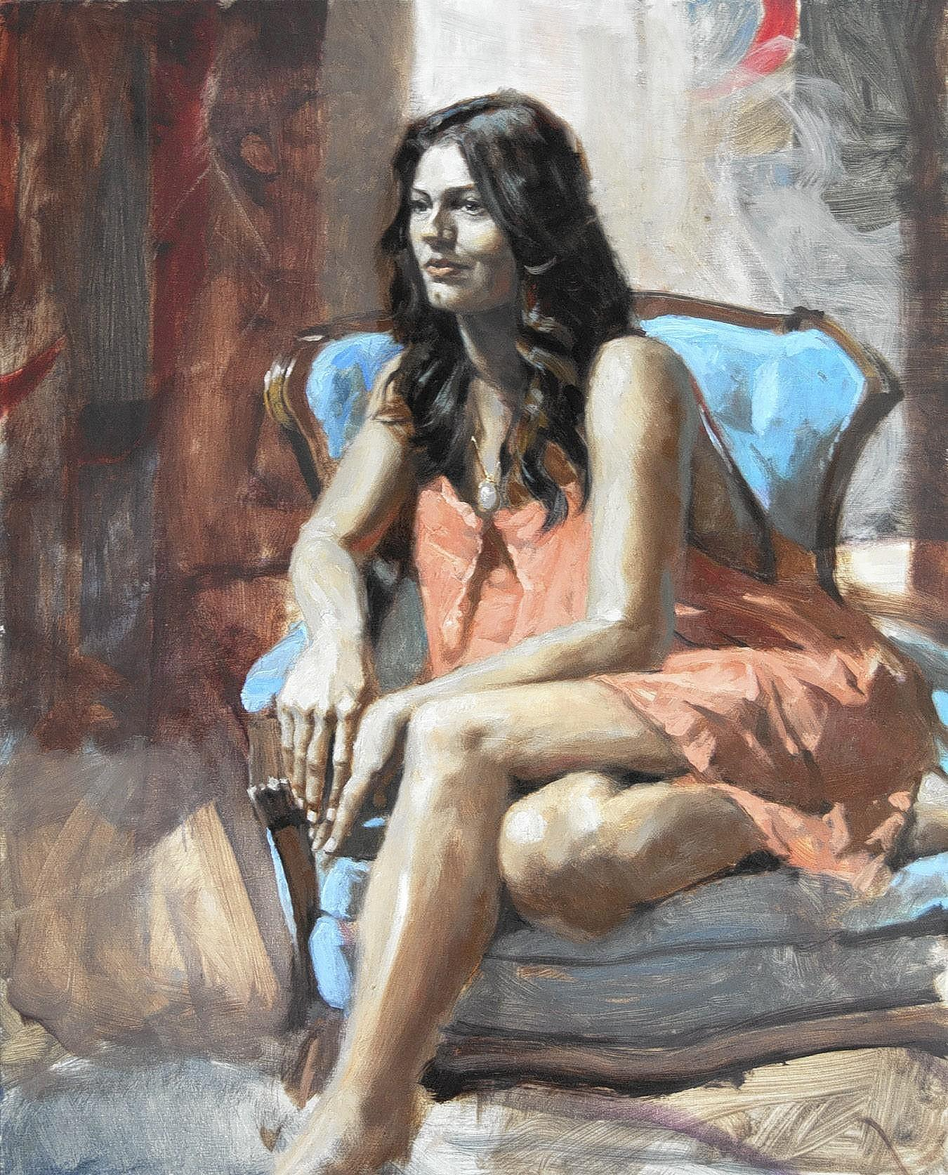"""Dominique,"" an oil painting by Virginia artist Mark E. Miltz, won Best in Show in Virginia Artists 2014 Juried Exhibition at the Charles H. Taylor Arts Center in Hampton."