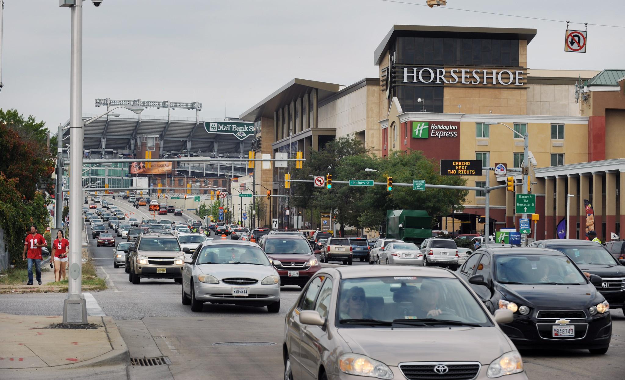 Horseshoe casino parking ravens