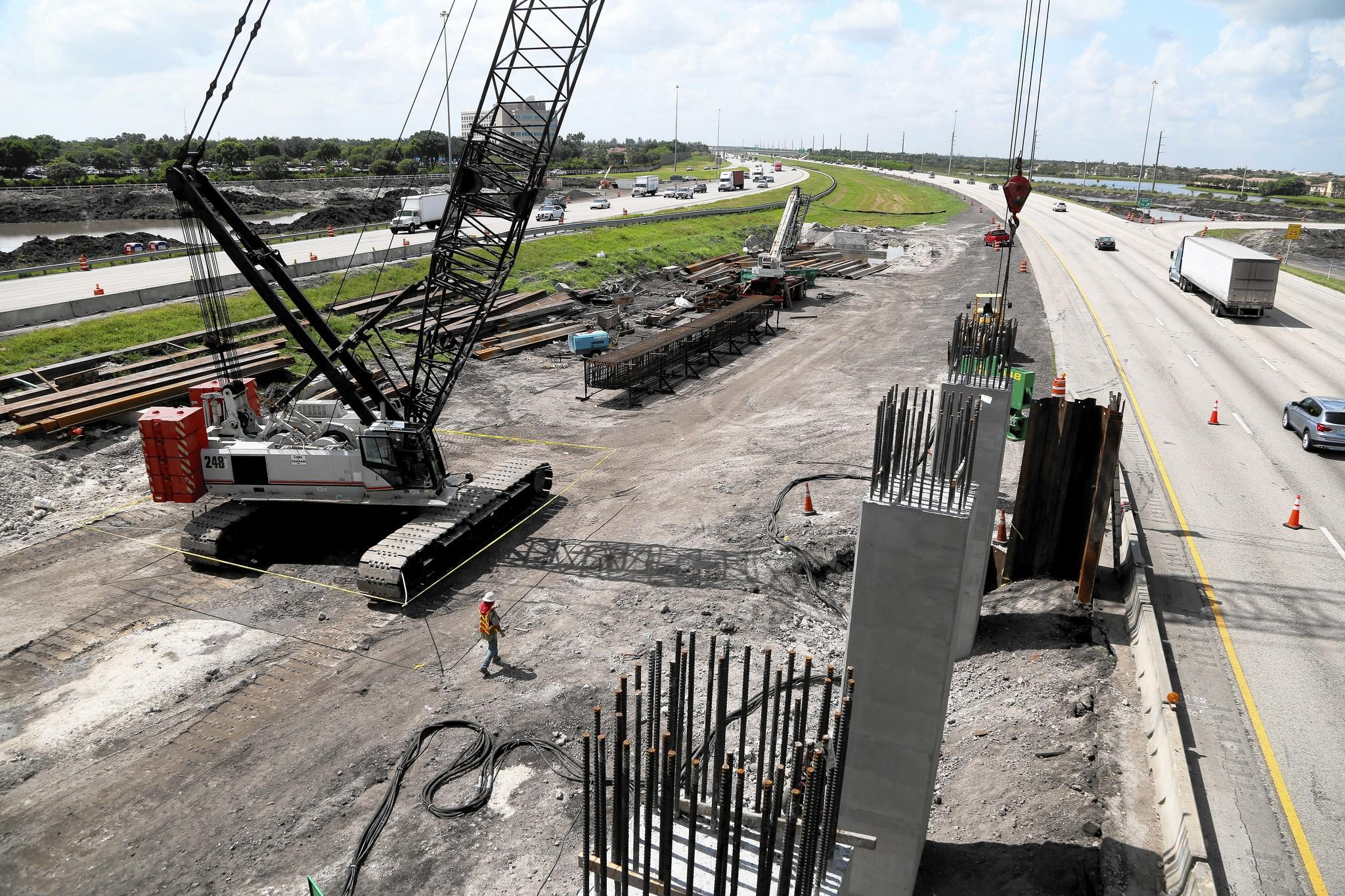 Construction in the median of I-75 continues at Miramar parkway. The next wave of construction on I-75 is about to begin and it will be much bigger than previously disclosed. The Sheridan Street overpass will be widened and the interchange will be rebuilt as express lanes are built in the median