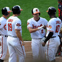 J.J. Hardy, David Lough, Chris Davis, Adam Jones