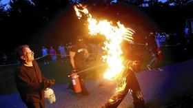 Man on Fire: Stuntman goes for record