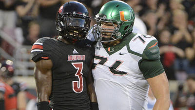 Live game updates: Louisville 14, Miami 10 at the half