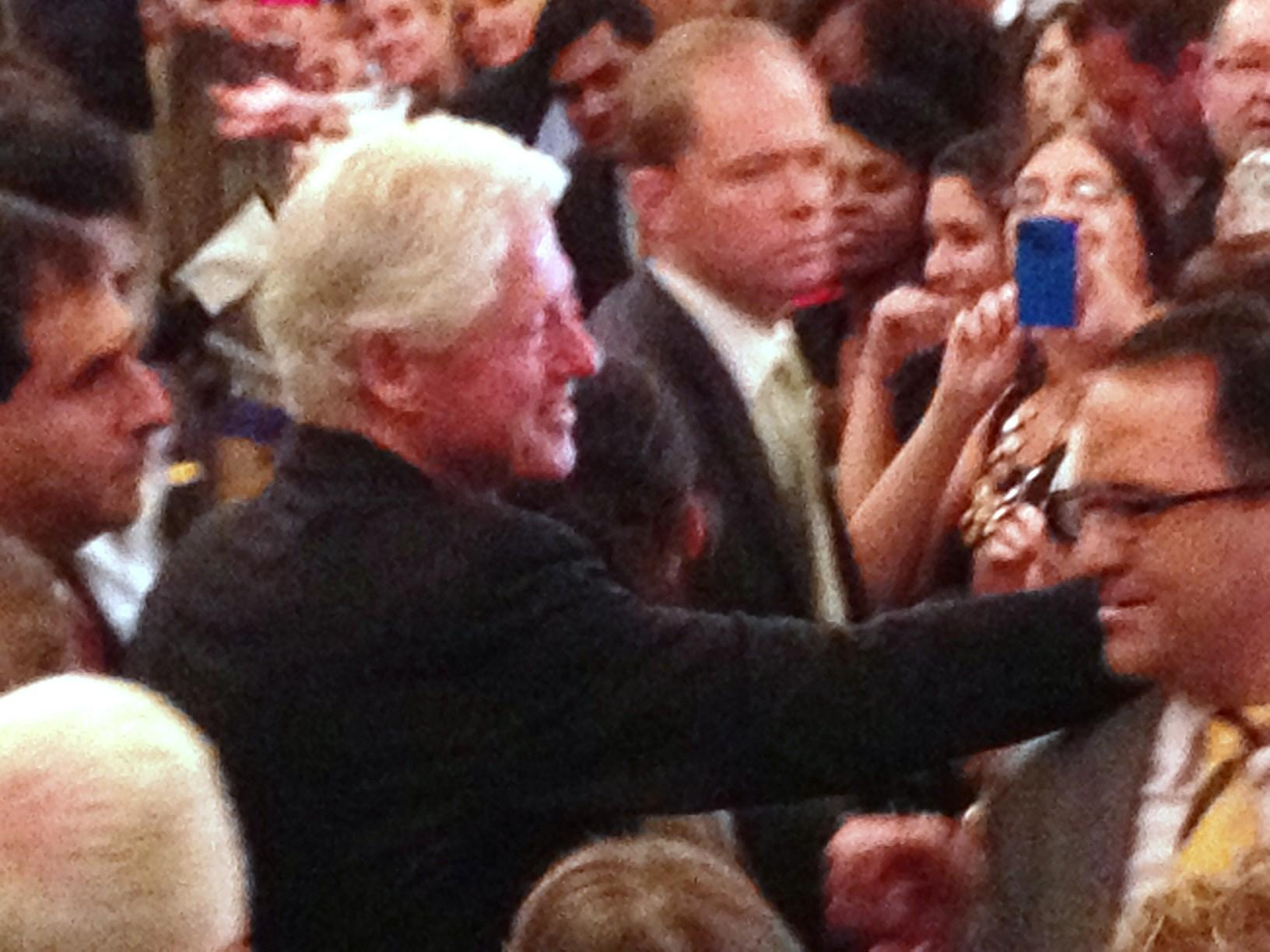 Former President Bill Clinton at the Omni Hotel in New Haven, CT, Sept. 2, 2014.