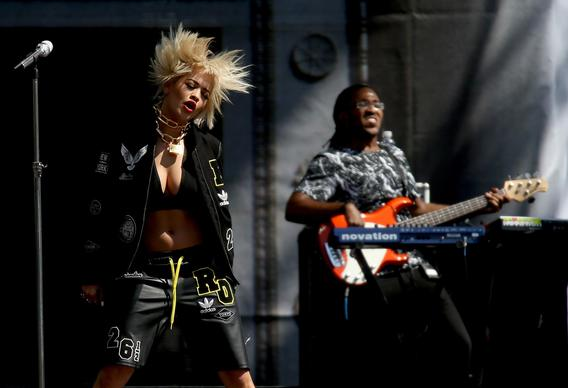 Rita Ora performs at the Made in America Festival in downtown Los Angeles on Aug. 31.
