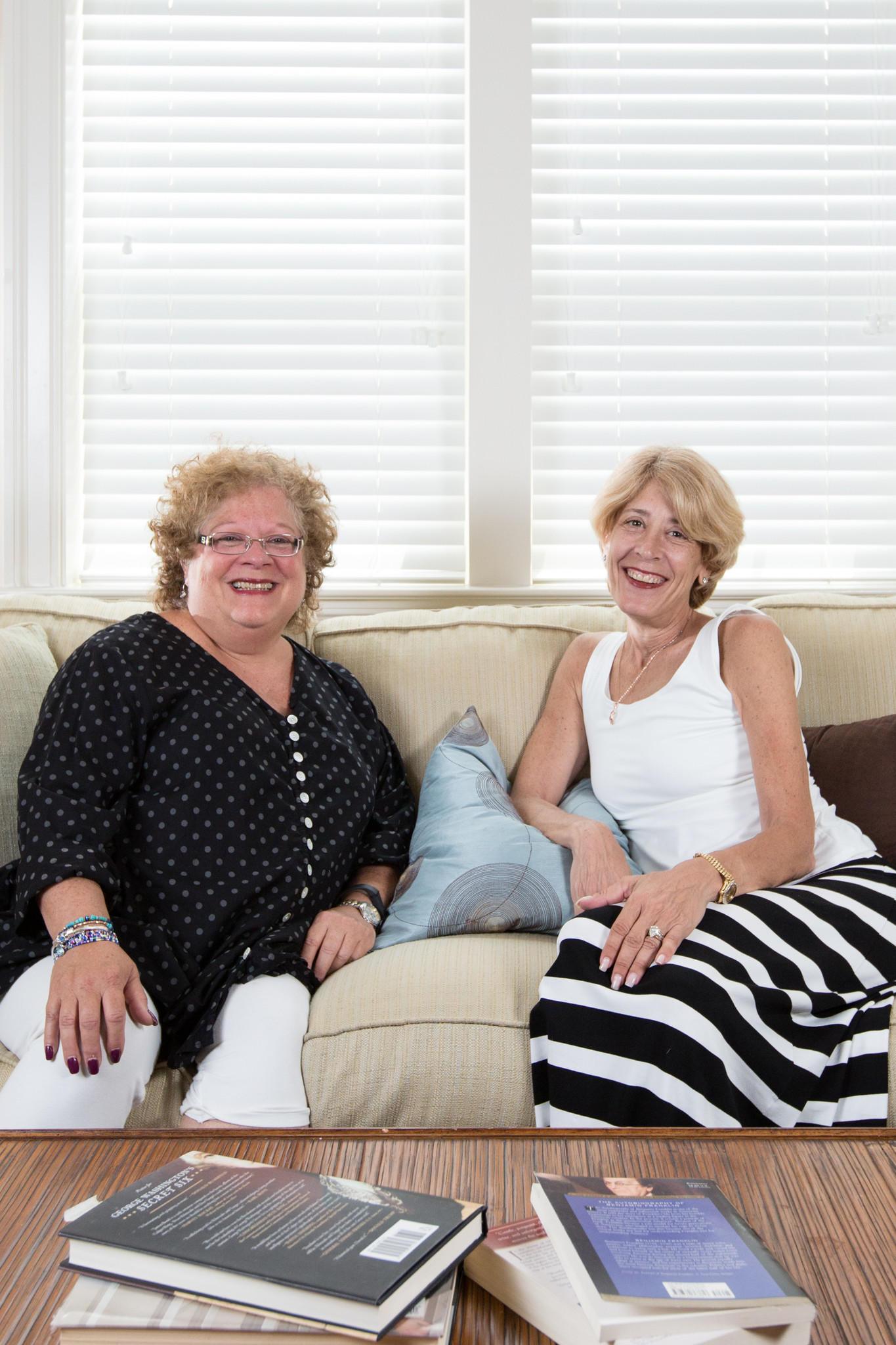 Joanie Reisfeld, left, founder of the nonprofit Better BedRest, with founding board member Cheryl Rozanski.