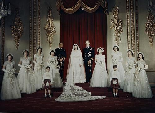 Wedding of Queen Elizabeth II and Philip Mountbatten. Nov. 20, 1947.